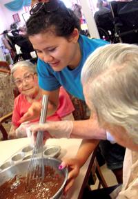 Naomi Making Brownies